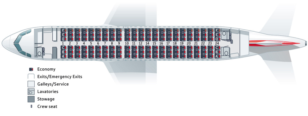 tyrolean airways seatmap